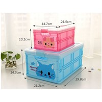 Folding Plastic Storage Box Small Cheap PP Storage Boxes in House Organization