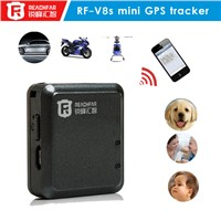 GPS+LBS tracking device RF-V8 mini vehicle gps tracker with SMS and phone alarm function