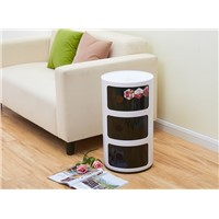 Living Room Decorative Round Plastic Storage Box and ABS Storage Cabinet
