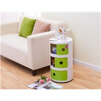 Round Plastic Storage Cabinet Living Room Decorative Storage Bin