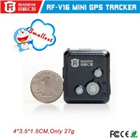 SOS emergency call two way communication mini gps tracker with GSM card with long life battery