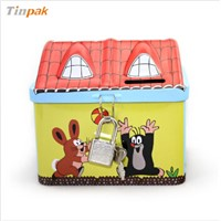 metal coin box tin can piggy bank money box