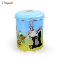 Cute tinplate money box
