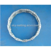 galvanized concertina razor wire coil for guard fence from manufacturer
