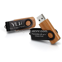 USB disk ,Stainless Swivel Wooden USB Flash Drive
