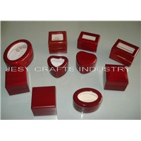 high glossy wooden jewelry box