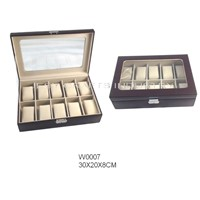 10pcs Brown Watch Display Box(W007)