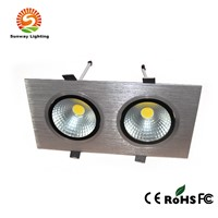 Super brightness 2*10W square COB LED downlight with CE&RoHS approved