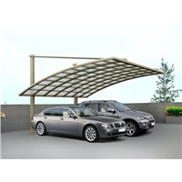 Strong and sturdy carport with all-alminum frame and solid polycarbonate