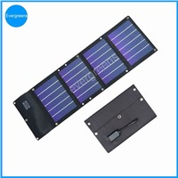 12w amorphous  flexible and folding  solar power bank charger