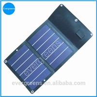 6W amorphous folding and flexible solar mobile phone charger