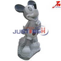 Lovely Granite Mickmouse sculpture for Sale