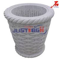 Natural granite garden flowerpot for Landscap