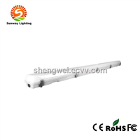 Easy install IP65 waterproof tube lighting built-in T8 4ft 2*18W led lamp Batten fitting with LED