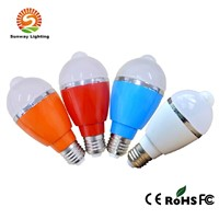 2014 New Design IR Control LED Bulb 5w LED Sensor  Bulb Light