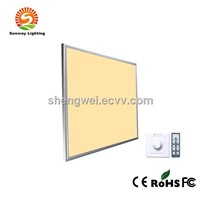 Remote controlled  LED Panel light led lamp dimmable WW/DW/PW/CW colored led panel