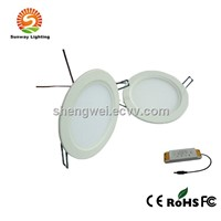 Dimmable 15w 10 inch round shaped led panel ceiling lamp