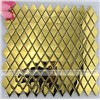 golden color rhumbus  stainless steel mosaic tiles decor kitchen,bathroom,background