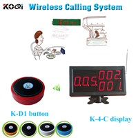 Wireless call system for restaurant display with buzzer