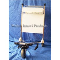 stainless steel airport luggage cart