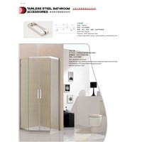 Diamond shower cabin two sliding two fixing 304# stainless steel without tempered glass