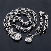 S00084 Fashion Metal Material Jewelry Sets Pendant Necklace Bracelet Quality Accessories