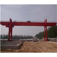 20ton indoor movable motor rail mounted remote control granite double girder gantry crane