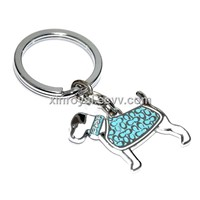 KC00015 Alloy Metal Material Promotion Gift Key chains Epoxy Dog Key ring Accessories Jewellry