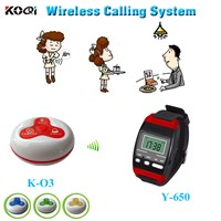 Smart restaurant equipment Y-650+O3 Watch pager call button for service
