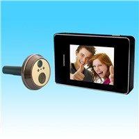 High Quality home alarm system night vision 2.8'' door peephole with monitor video phone