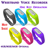 New 4/8/16GB Wearable Wristband Bracket Digital Voice Recorder Dictaphone one-key WAV 128Kbps