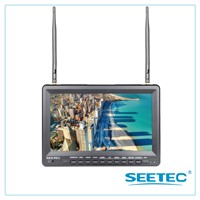 "10.1"" wireless HDMI lcd Monitor battery powered with DVR video recording"