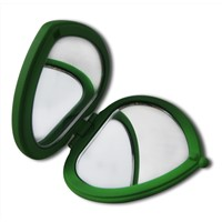 Heart-shaped Rubber Coating Finish, Vanity Mirror and Makeup Mirrors
