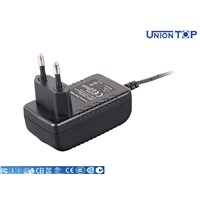 Plugin 12V AC DC power adapter with CE FCC LVD RoHS marks