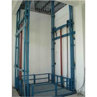 Guide rail lift car lift platform used for delivery cargo goods