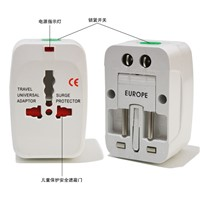 Universal wall mount travel power adapter with EU, US, UK, AU standards