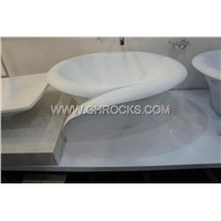 White Marble Vessel Sink,Stone Wash Basin,Granite Bathroom Sink