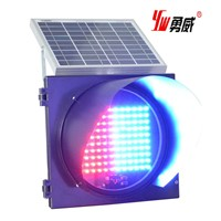 Red and Blue Solar LED Traffic Light