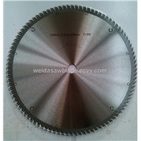 TCT saw blade for cutting aluminium and plastic