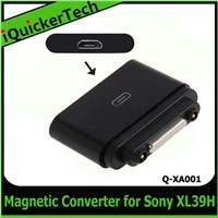 Magnetic Charging Mirco USB Converter Connector For Sony For Xperia Z Ultra XL39H Z1Q-XA001