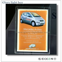 LED advertising crystal panel/ easy changed poster acrylic frame