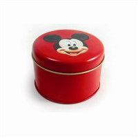 round custom candle tin box
