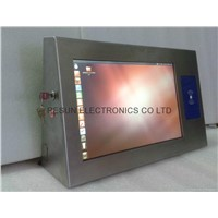 Stainless Steel Industrial Touch Screen Panel PC built-in  RFID