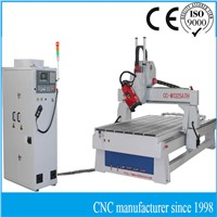 CNC 3D axis automatic carving machine with spindle rotate 0-180 degree and linear ATC