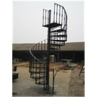 Cast iron spiral stair railings