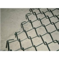 PVC Coated galvanized chain link fence green black ( DIRECT FACTORY ISO 9001)