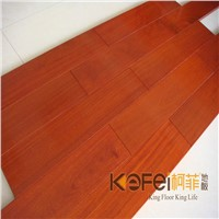Red color hardwood balsamo wood solid flooring for interior decoration