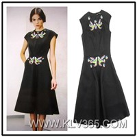 New Model Fashion Lady Dress Simple Long Dress