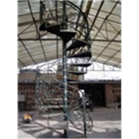 Indoor Wrought iron spiral staircase