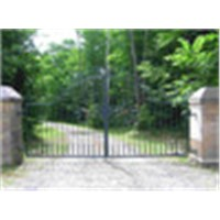 Ornamental garden wrought iron gate